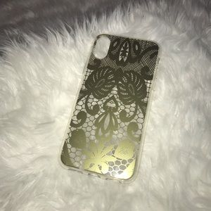 Accessories - BOGO iPhone X case - clear with Gold Lace